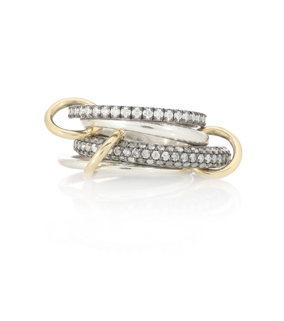 Vega Sg 18Kt Gold And Silver Diamond Ring - Spinelli