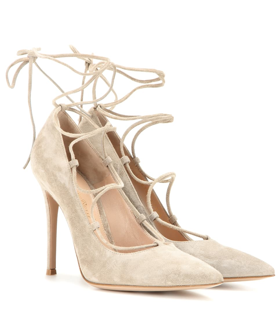 Gianvito Rossi Femì lace-up suede pumps Affordable Online Sale Order Discount Footlocker Finishline Official Cheap Online uWhviEDyg