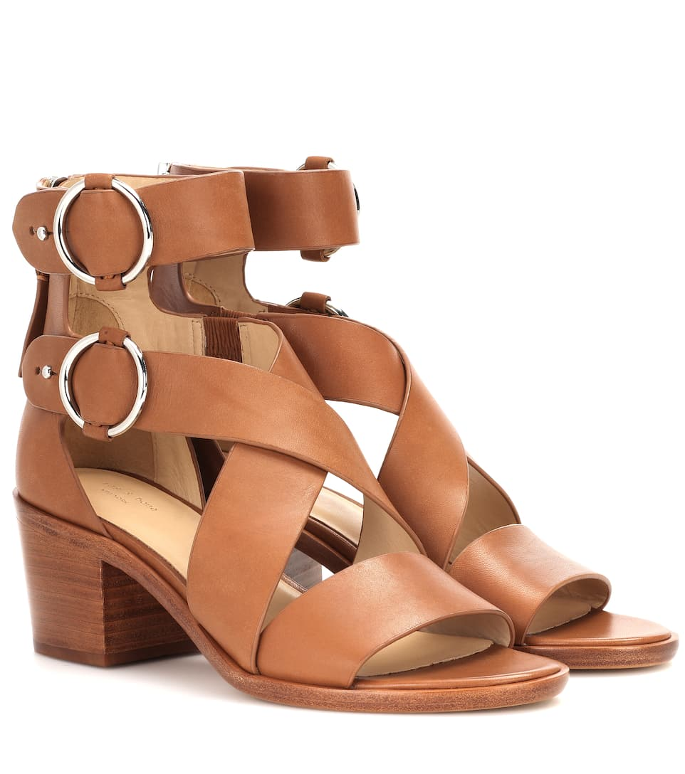 Rag & Bone Leather Crossover Sandals shopping online outlet new arrival outlet discount U7D8u