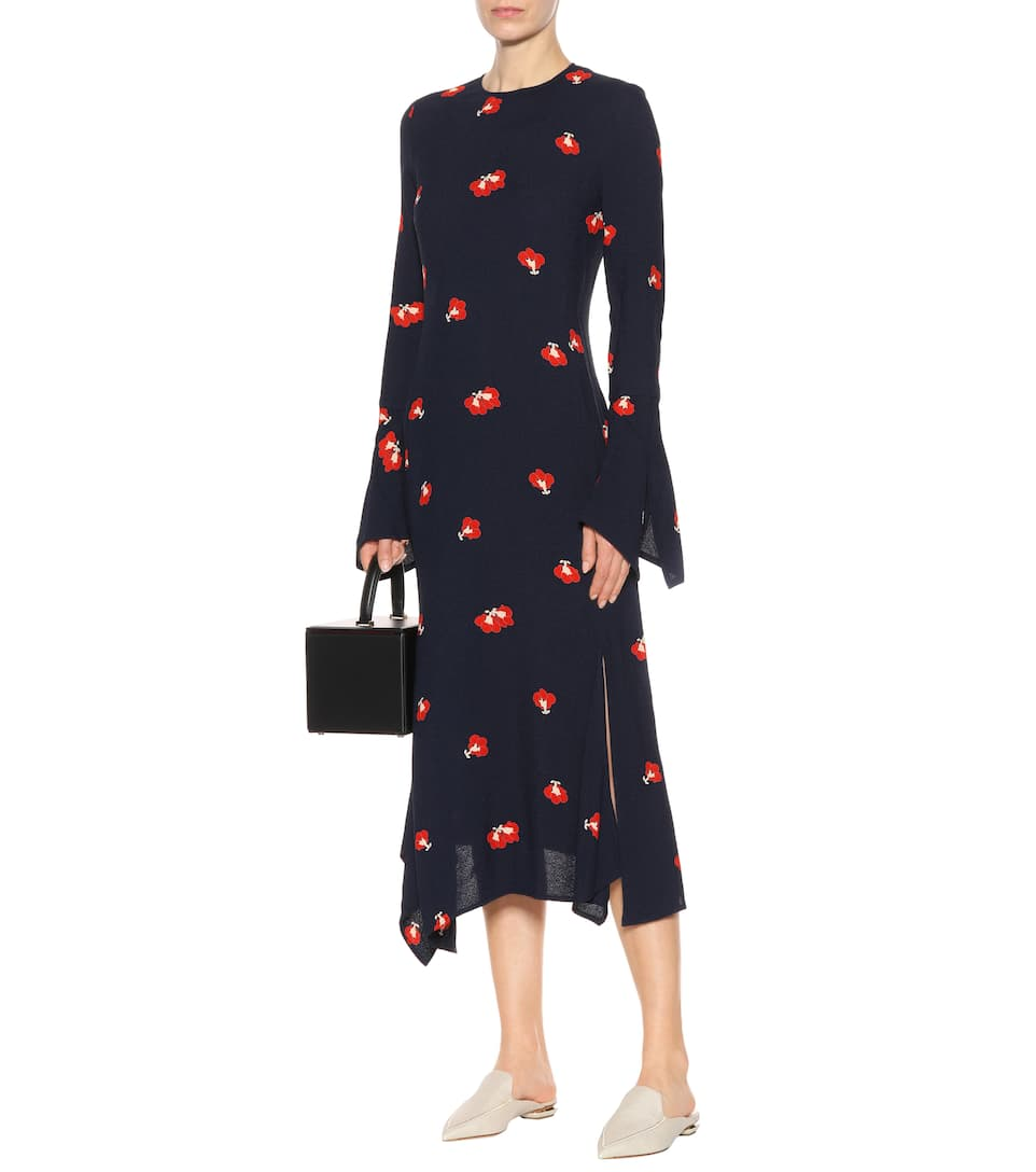 Victoria Beckham Printed Dress In Crêpe