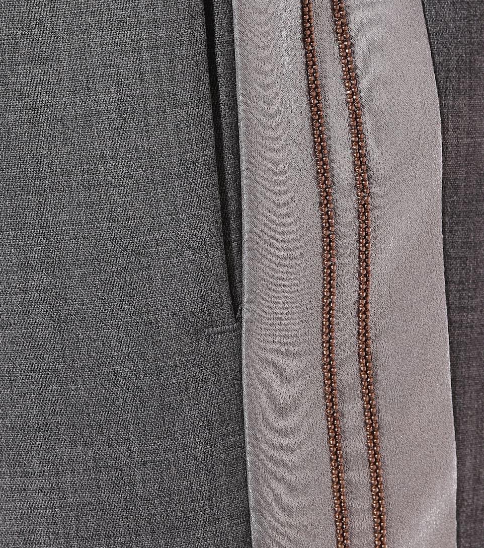 Brunello Cucinelli Cropped Hose aus Wolle