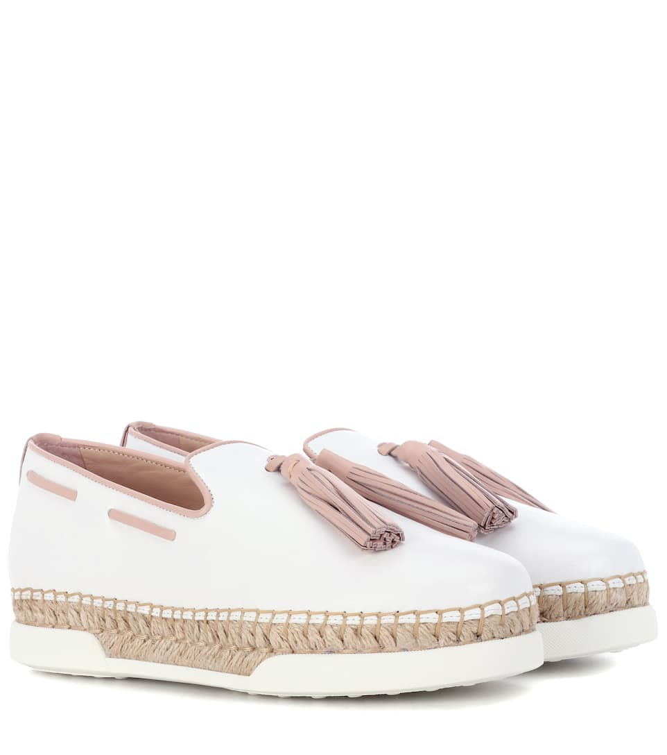 Ivory and black espadrilles Tod's 100% Guaranteed Sale Online Collections Cheap Price Multi Coloured Get To Buy Amazing Price 6UzmMB