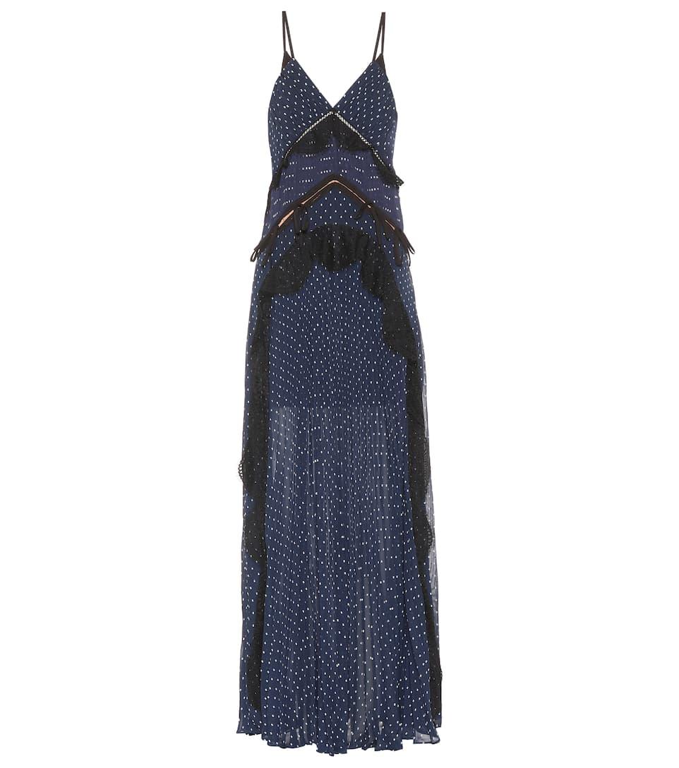 7a40cc4b35f8 Plumetis Maxi Dress - Self-Portrait | mytheresa.com
