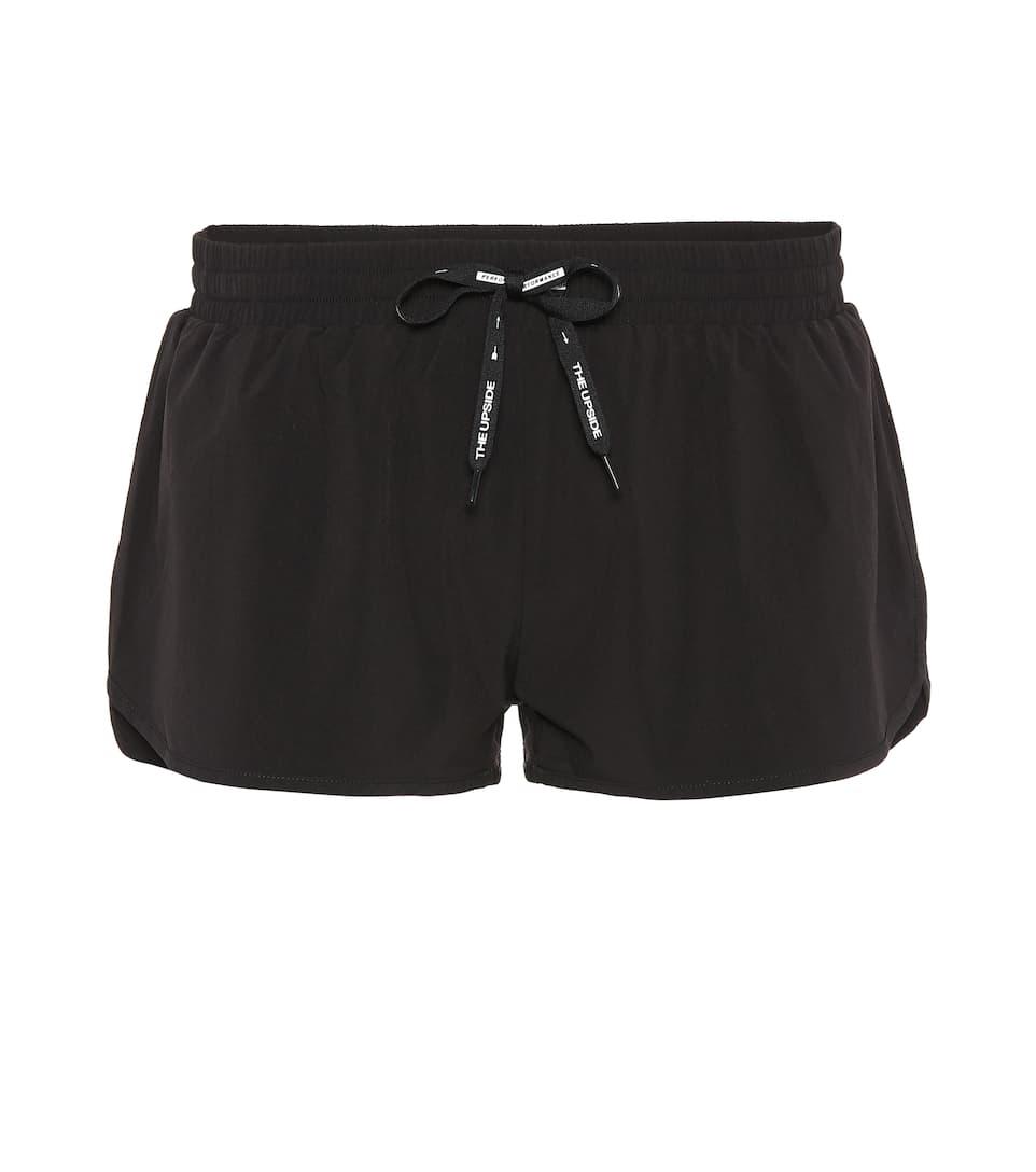 cortos Run Upside Pantalones negro técnicos pwgqdU