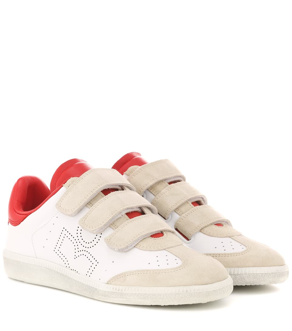 1334a5ced22 Isabel Marant - Beth leather and suede sneakers   Mytheresa