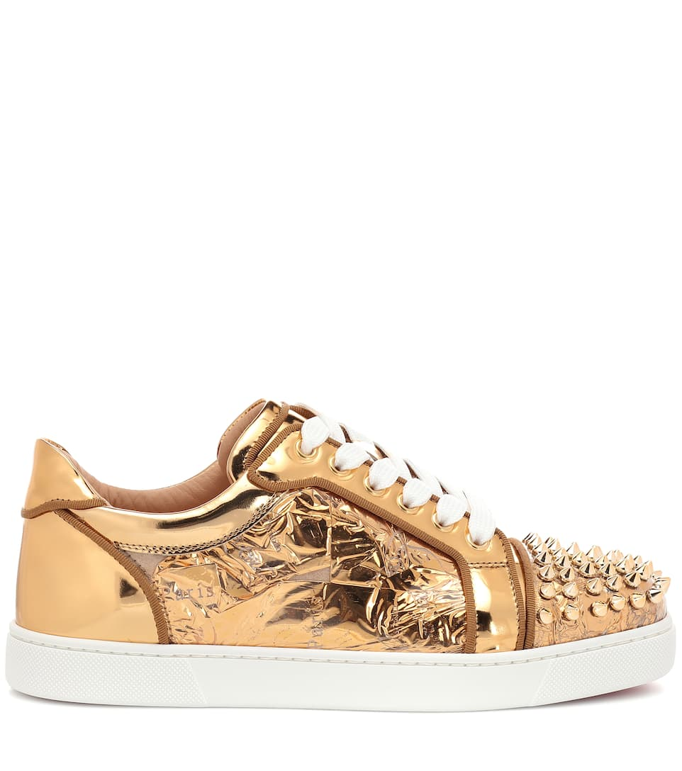 Vieira Spikes embellished leather sneakers
