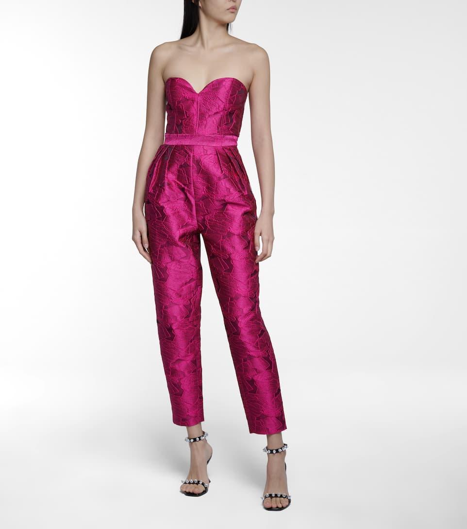 Jacquard Jumpsuit Pink