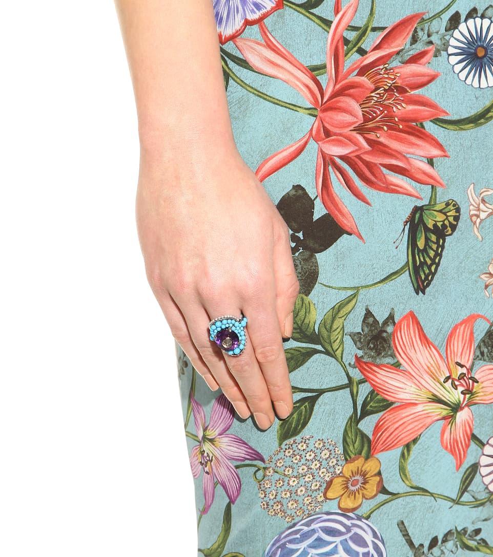 Bague À Perles Et Cristal - Gucci Réduction Authentique Sortie Offres À Petits Prix Meilleure Vente Meilleurs Prix Pour La Vente bUcXXfo4m