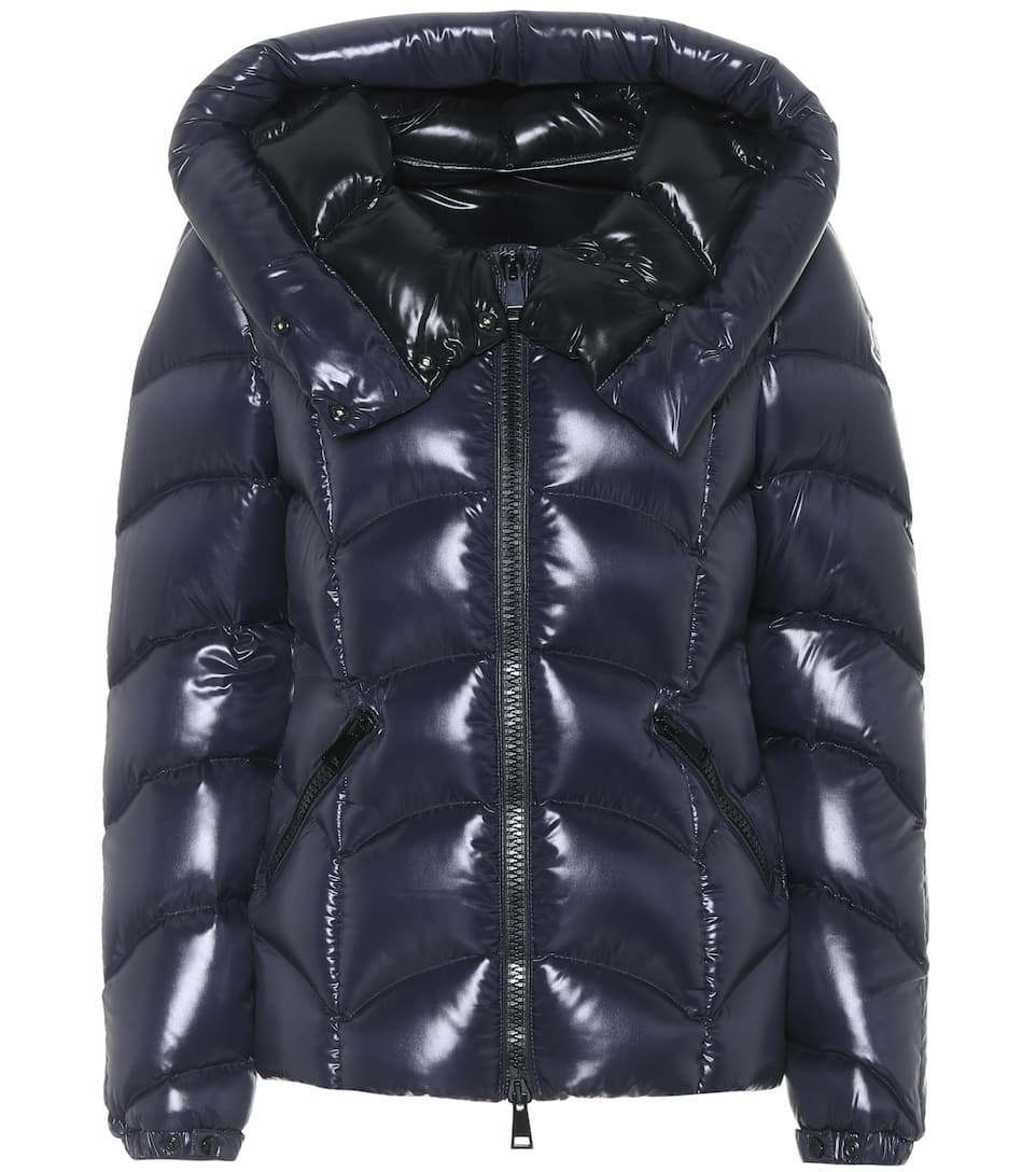 moncler black shiny puffer