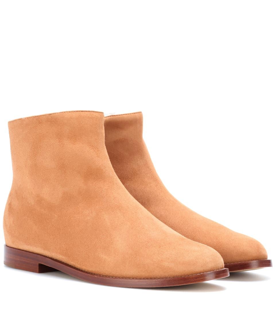 VelourslederMansur nrnbsp;p00284327 Art Aus Gavriel Ankle Boots Mytheresa 0NwPO8kXn