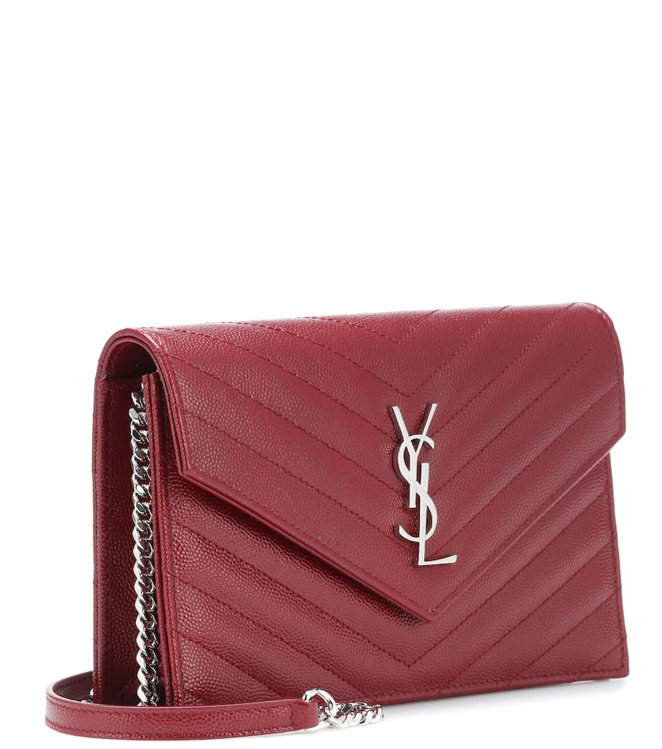 Saint Laurent Clutch Classic Monogram aus Leder