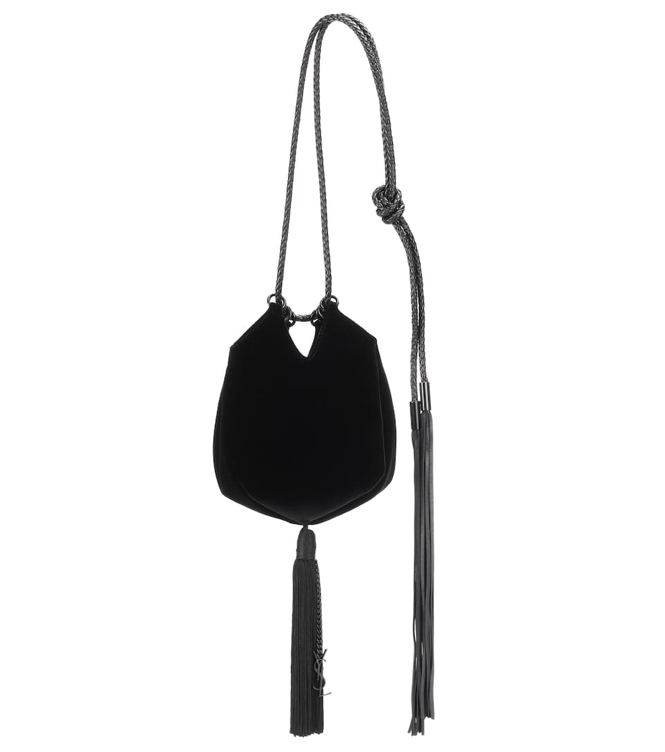Kauf Zum Verkauf Klassisch Saint Laurent Bucket-Bag Mansour Small aus Samt Günstig Kaufen Verkauf Niedriger Preis Versandgebühr Billig Und Schön OYoJlsdDnf