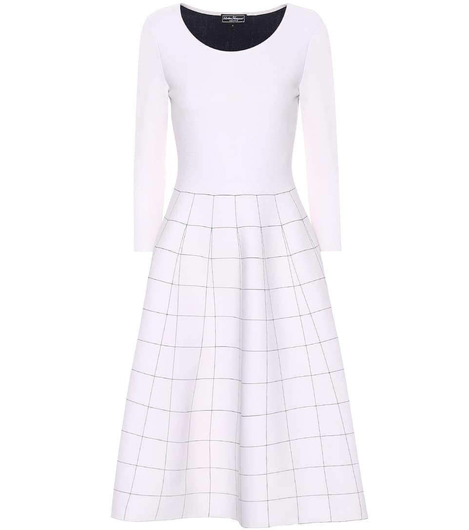 Sale Discounts Stretch-jersey dress Salvatore Ferragamo Cheap Clearance Free Shipping Discount 100% Guaranteed Cheap Online hoVfZ0X