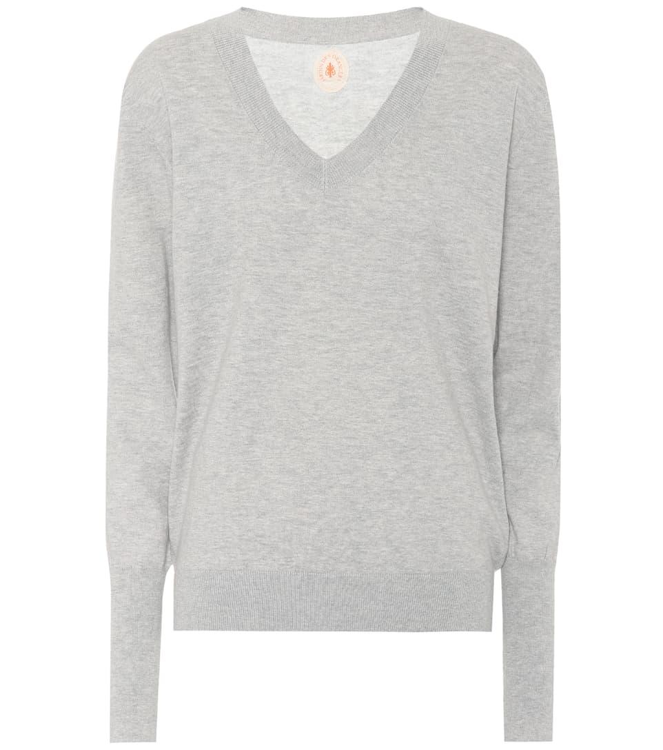 Orangers des Jardin y algodón gris de Jersey cachemira P5BUBx