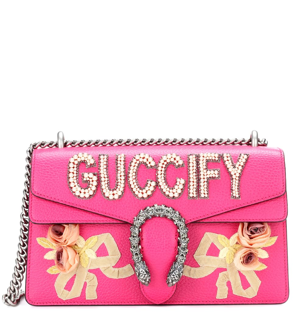 d053bfb2f Dionysus Small Leather Shoulder Bag - Gucci | mytheresa.com
