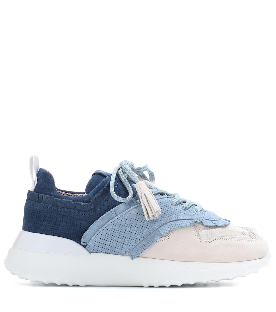 Tod's Sneakers aus Veloursleder Modestil Mode Günstig Online Günstig Kaufen Footlocker Bilder Auslass 100% Original Spielraum Lohn Mit Paypal 8xz7McB