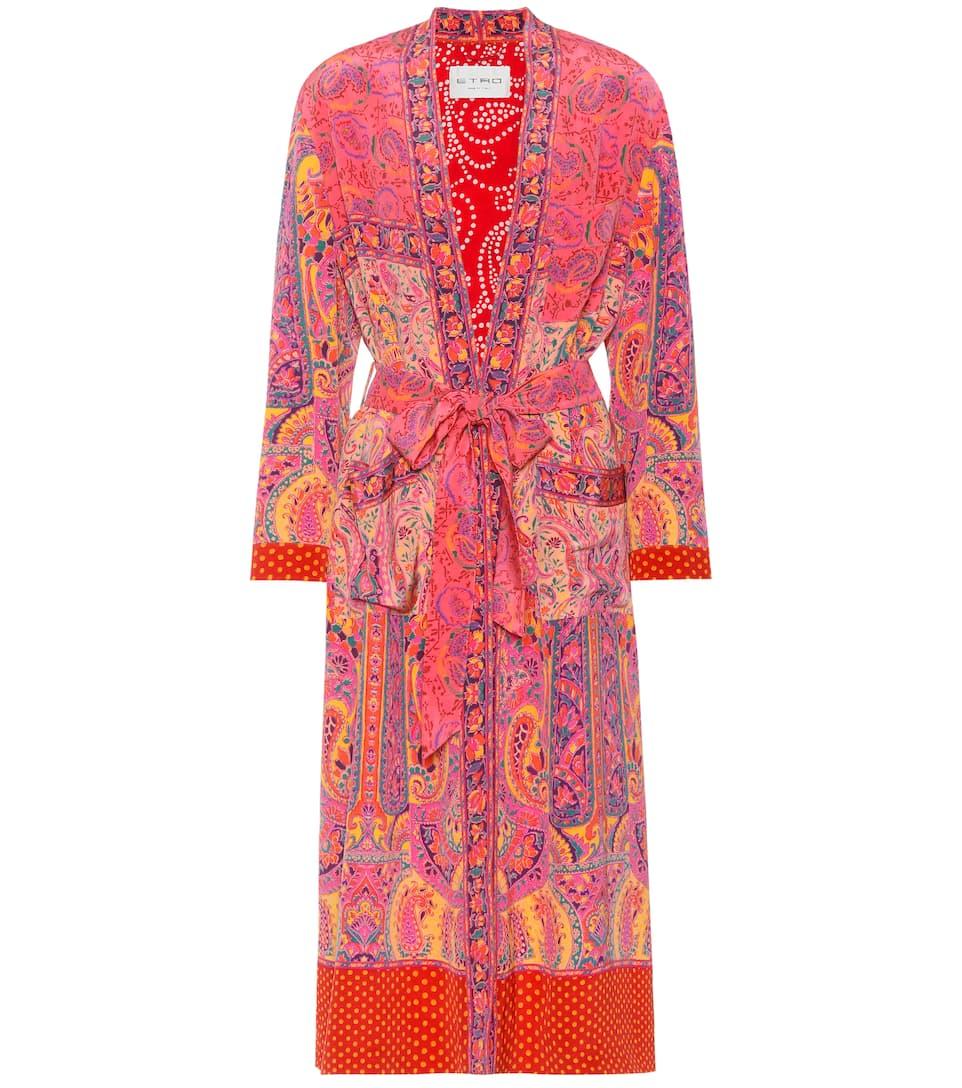 Etro Bedruckter Mantel aus Seide