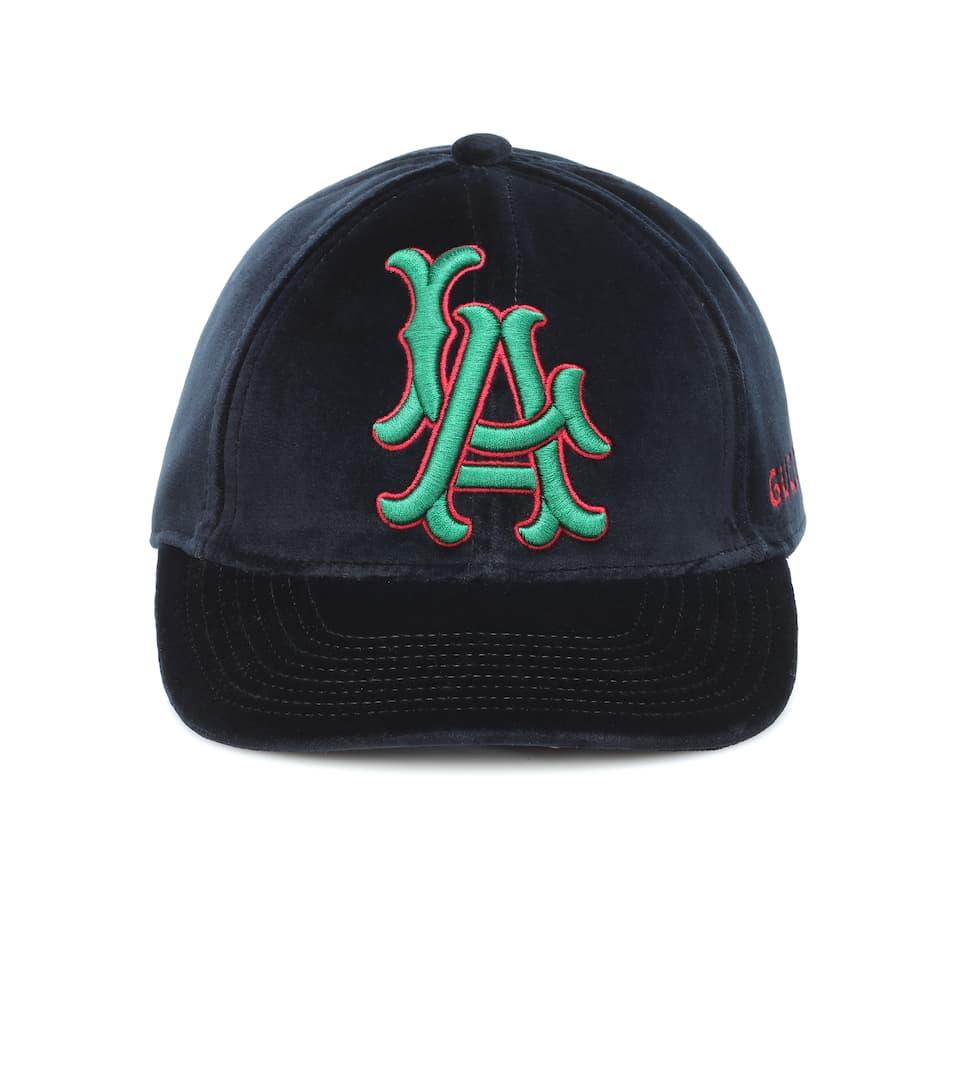 La Angels Velvet Baseball Cap  2031ef86119