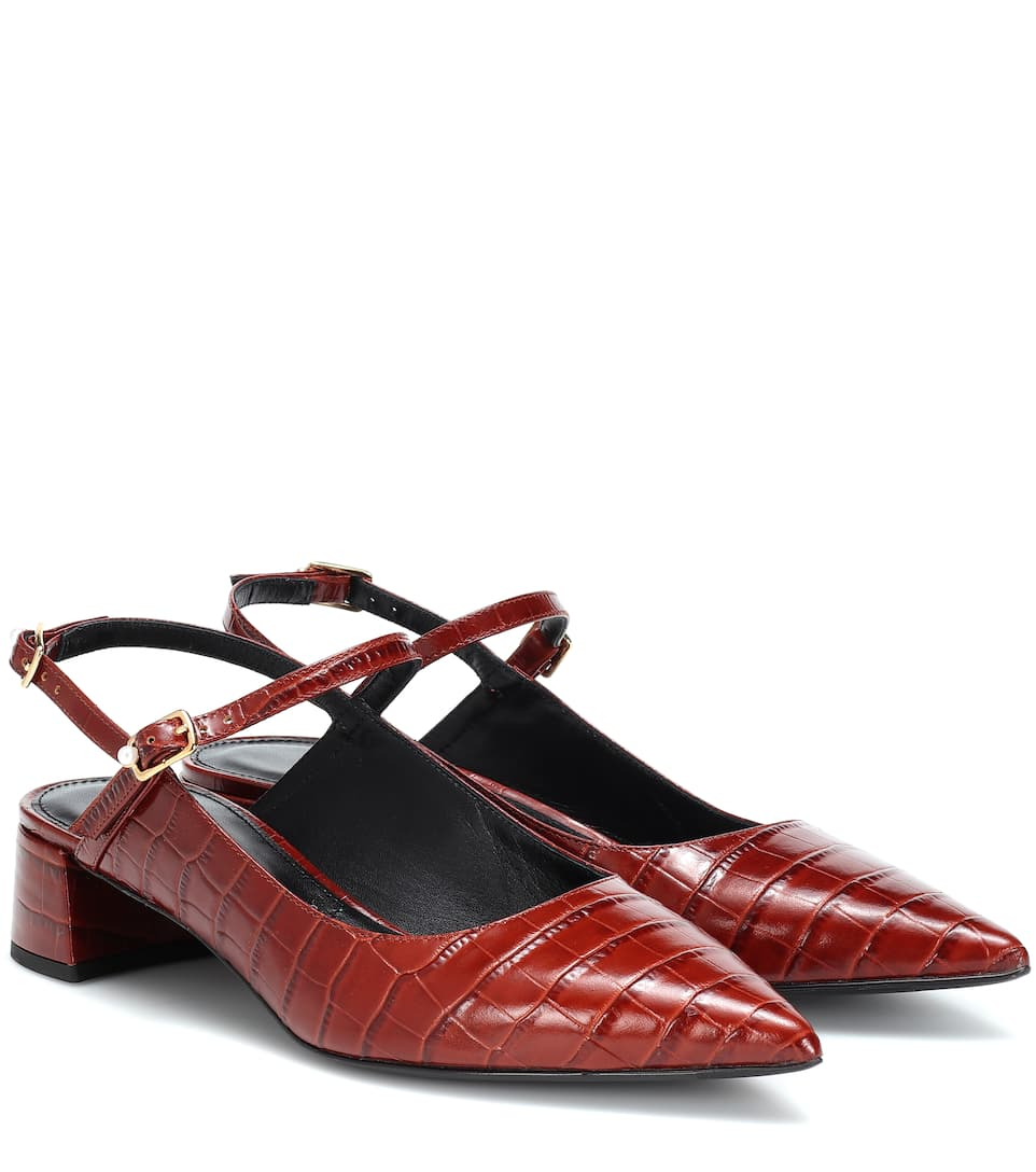 Aerin Slingback Leather Pumps by Erdem