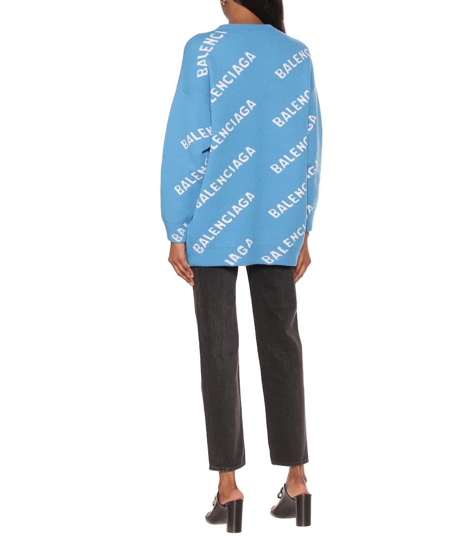 Balenciaga - Logo wool-blend sweater