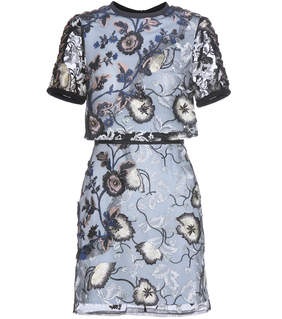 Self-Portrait Kleid Florentine aus besticktem Tüll