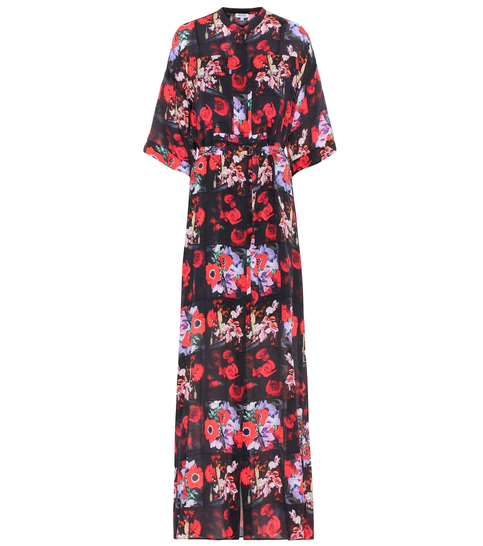 286090aa Kenzo - Printed silk shirt dress | Mytheresa