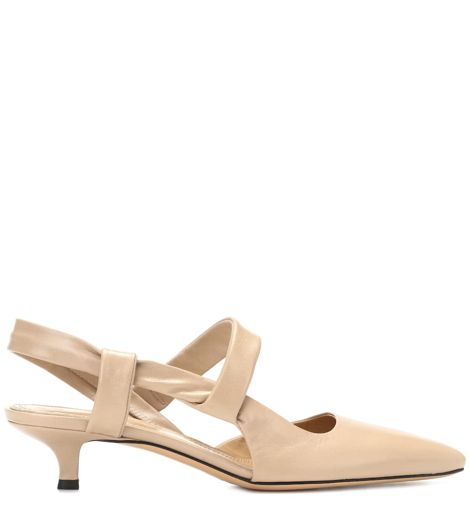 The Row Slingback-Pumps Coco Twist aus Leder