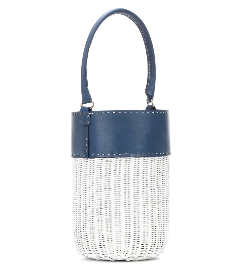 Kayu Bucket-Bag Lucie mit Lederdetails