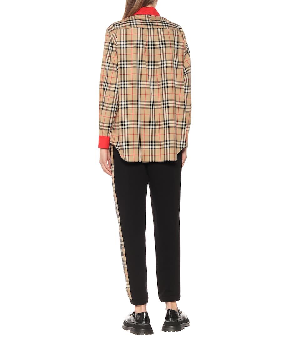 Burberry - Vintage Check stretch-cotton shirt