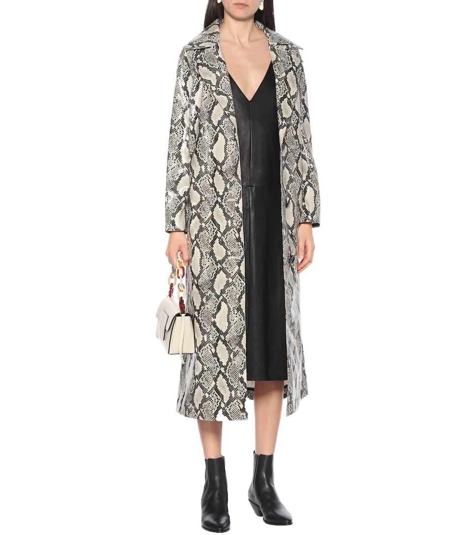 Stouls - Mahaut leather slip dress