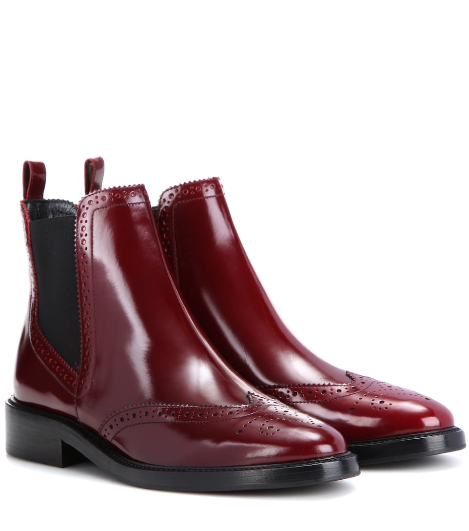 Burberry Chelsea leather ankle boots