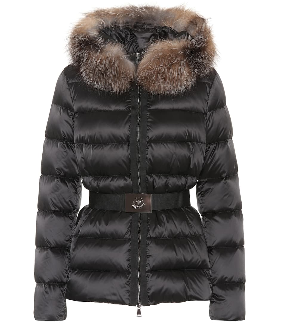 bc0bc4298351 Tatie Down Jacket With Fox Fur - Moncler   mytheresa.com