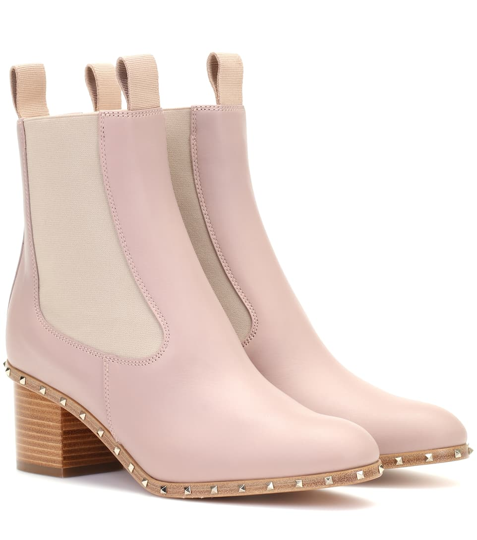 SOUL ROCKSTUD LEATHER ANKLE BOOTS
