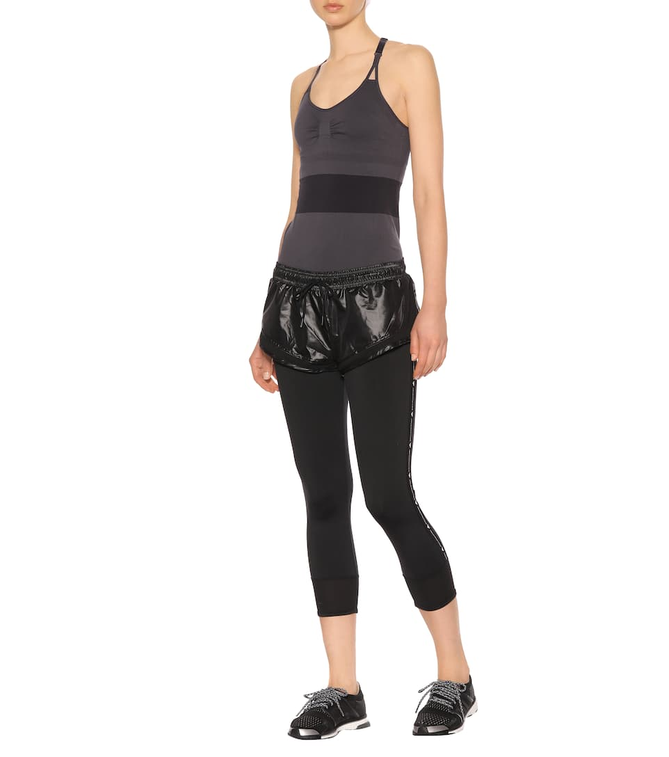 de Essential negras Pantalones sobre Stella mallas McCartney cortos adidas fEwwqSgp