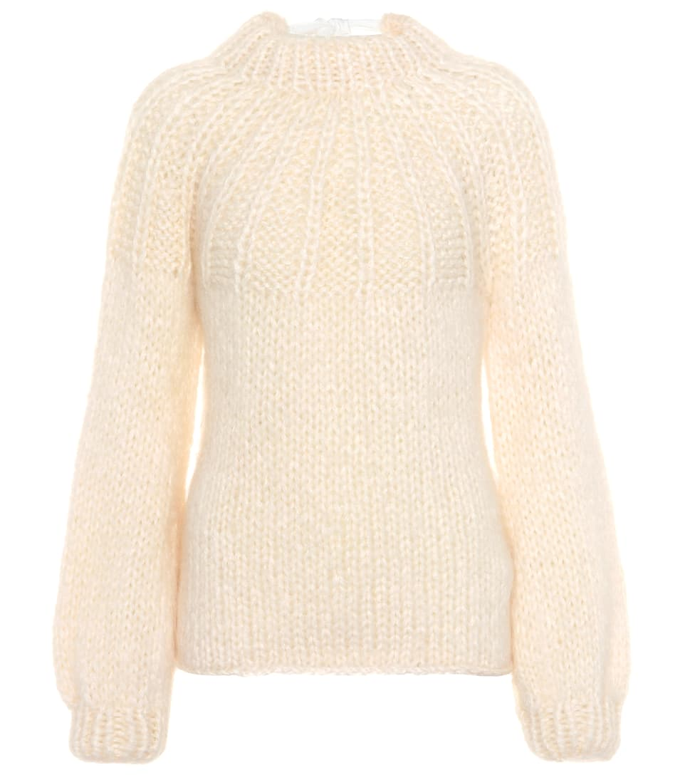 JULLIARD MOHAIR AND WOOL SWEATER