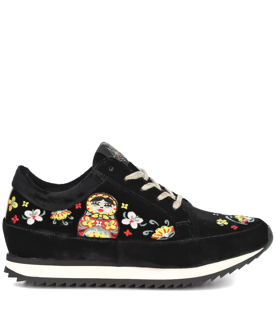Work It Matryoshka velvet sneakers Charlotte Olympia