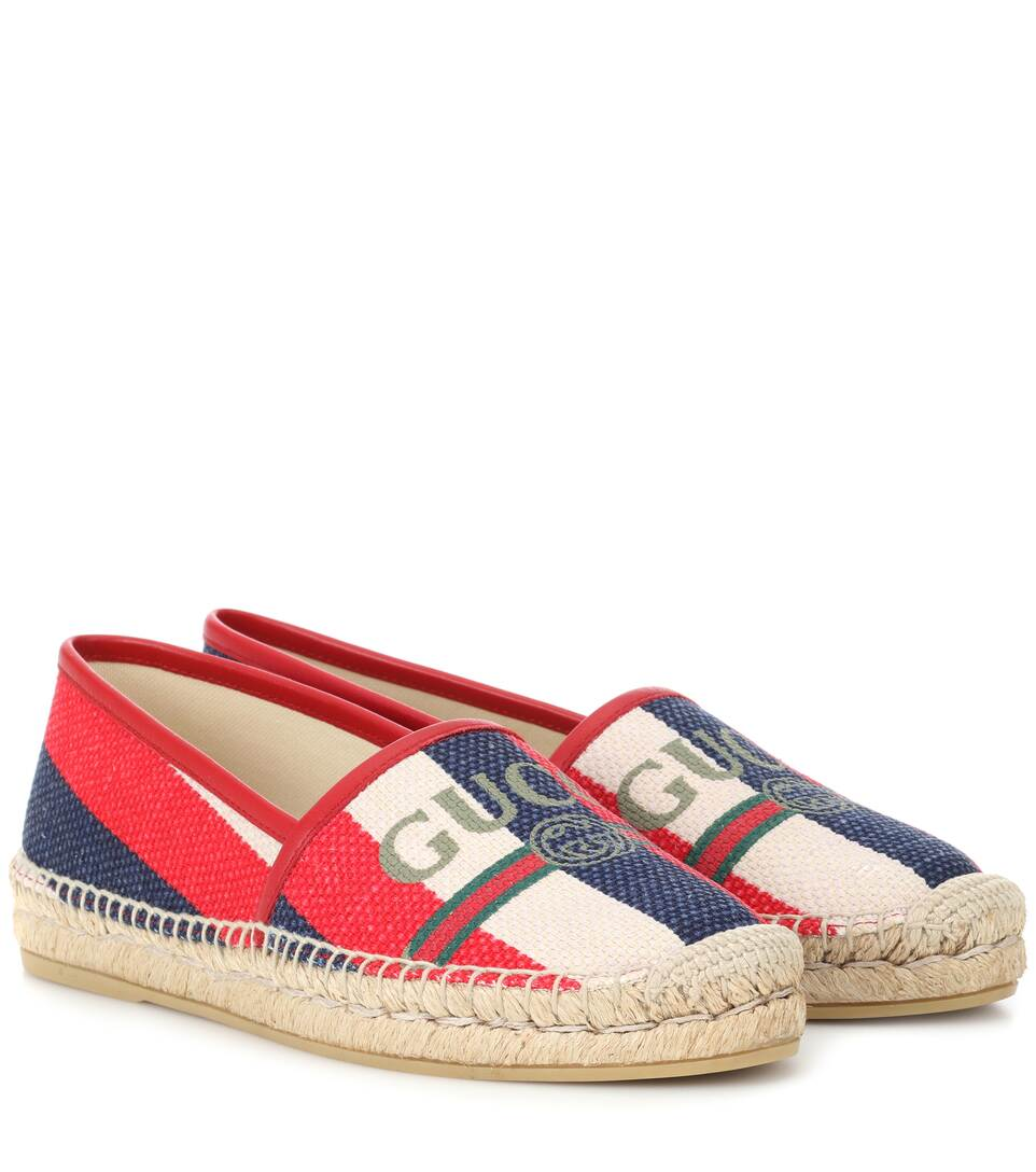 Exclusive To Mytheresa – Slyvie Striped Logo Espadrilles by Gucci