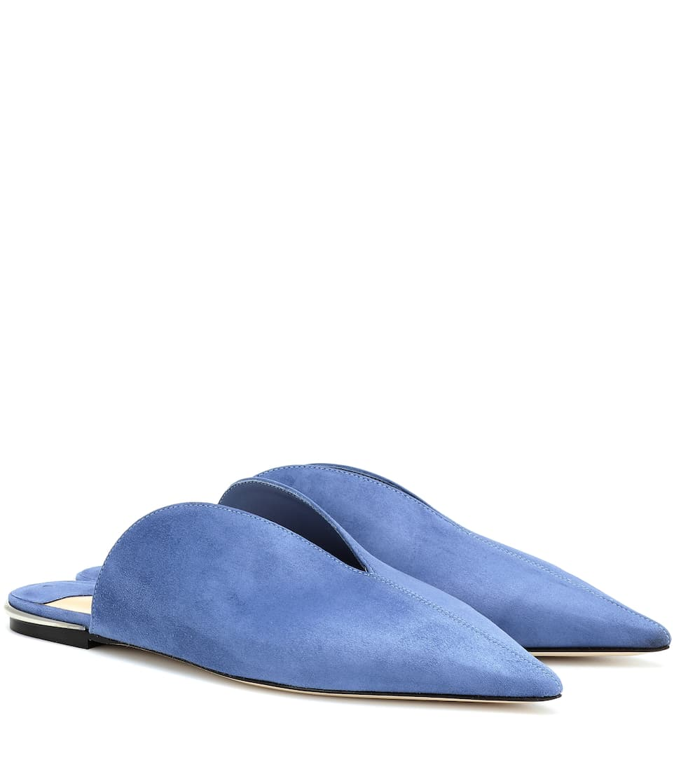 a24caeccc0 Tahla Flat Suede Slippers - Jimmy Choo | mytheresa