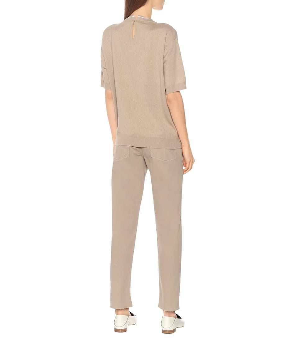 Brunello Cucinelli - Wool, cashmere, and silk sweater