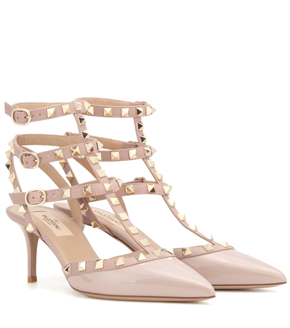 Valentino Garavani Rockstud Patent Leather Pumps ...