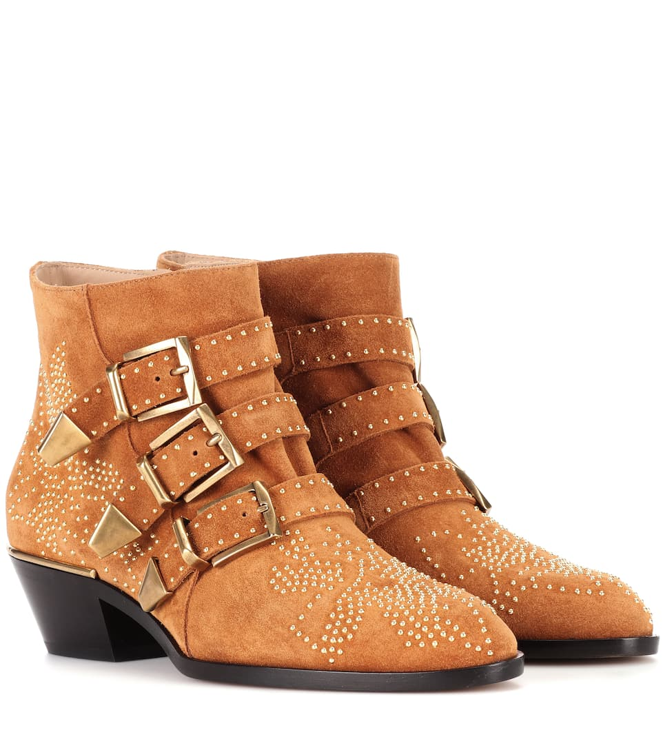 Bottines en daim clouté SusannaChloé 8eV5tPf5FS