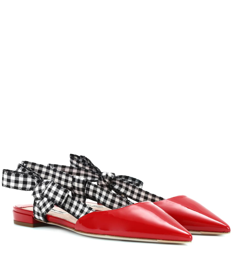 Patent Leather Slippers by Miu Miu