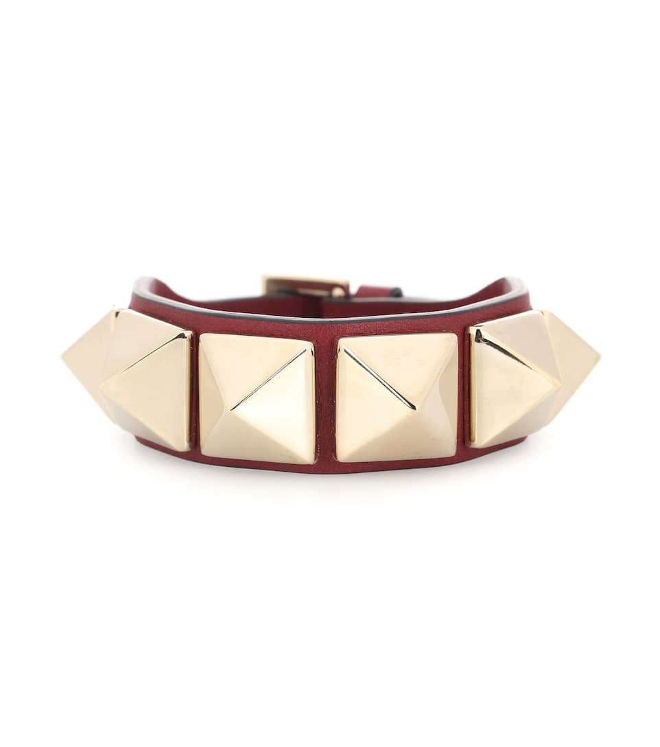 Valentino Garavani - Bracelet En Cuir Rockstud - Valentino