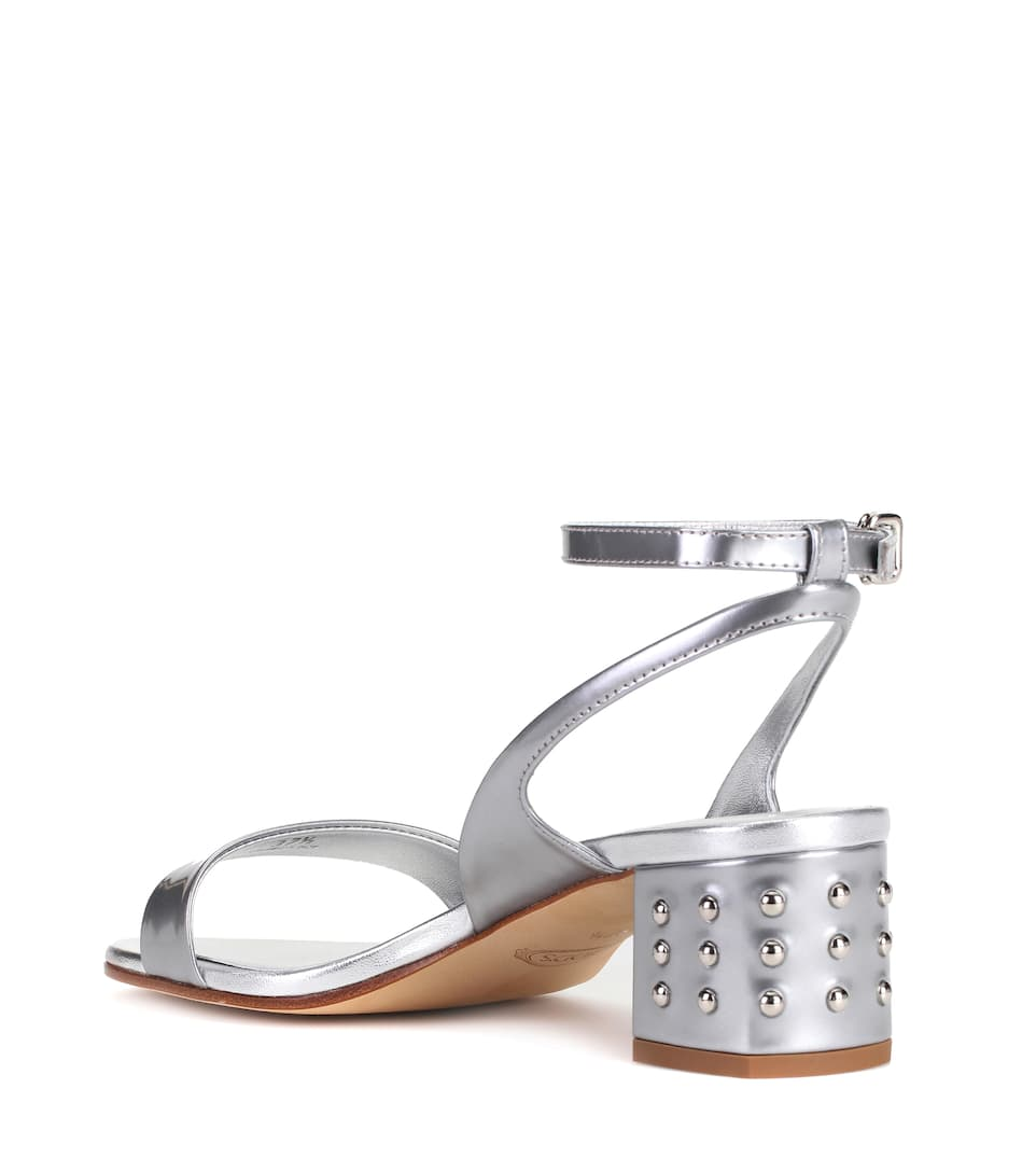 Tod's Metallic leather sandals Silver Clearance Buy Official Cheap Online Discount View Ebay Online Outlet Wholesale Price IxwJK