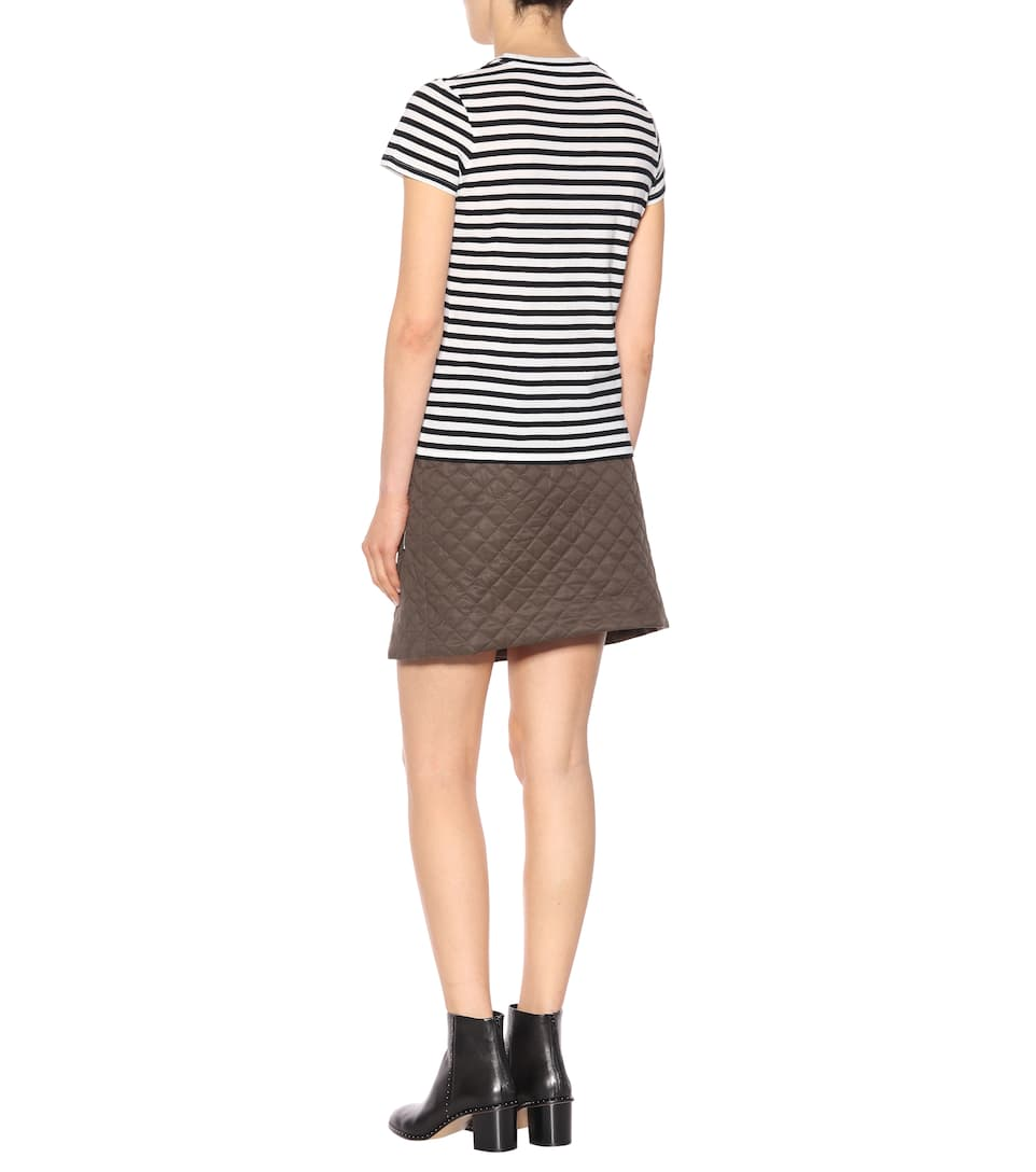 Vince Striped T-shirt Made Of Cotton