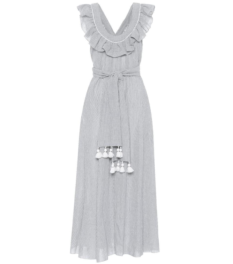 Prix Extrêmement Pas Cher Three Graces London - Robe longue en coton mélangé Josephine Large Éventail De La Vente En Ligne OqsJ6D