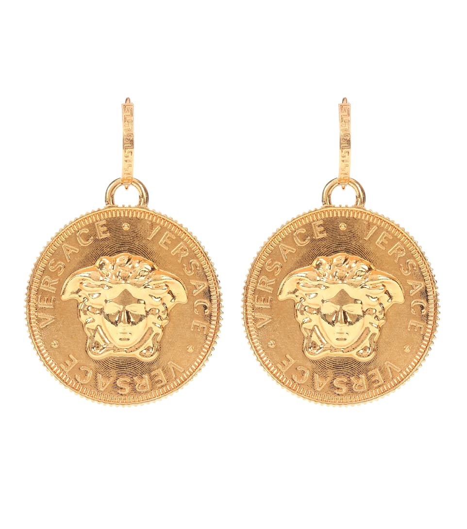 Tribute Gold Plated Earrings by Versace