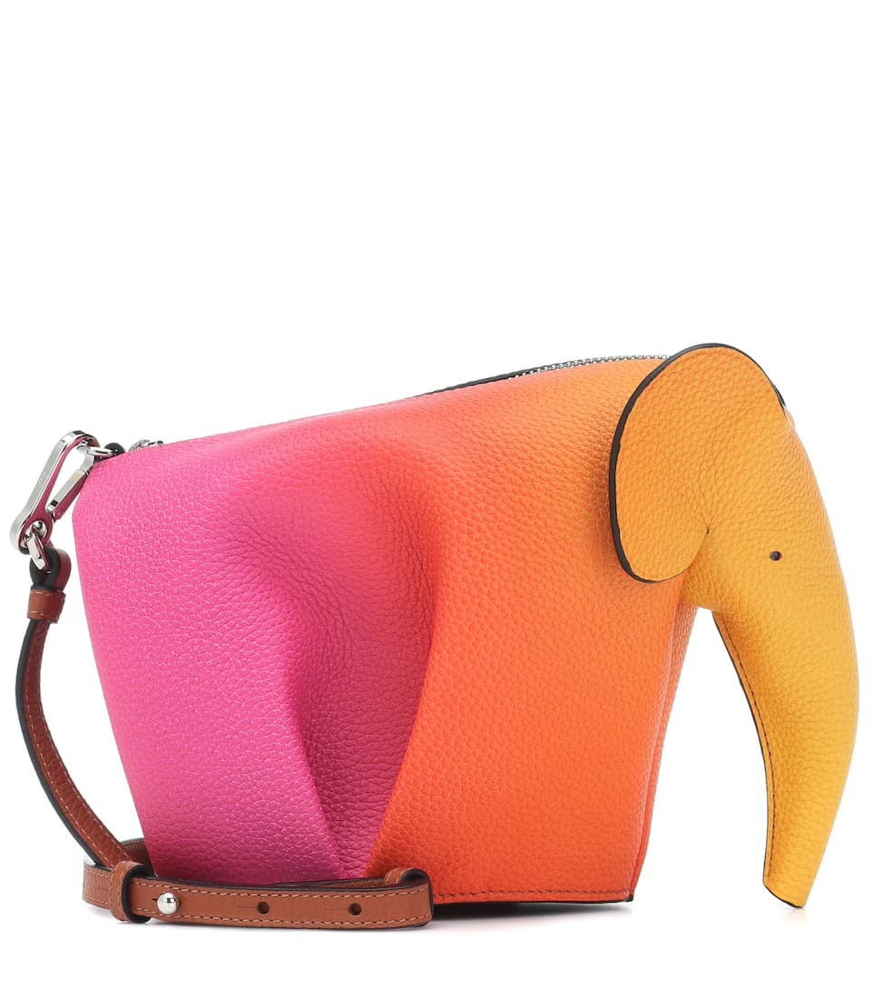Loewe Shoulder Elephant Mini leather shoulder bag