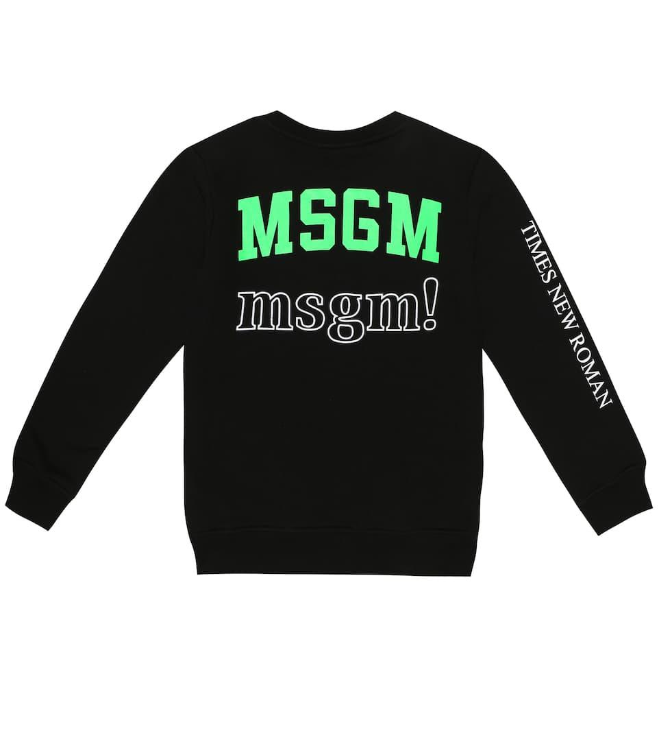 4d0ead84f MSGM Kids - Logo cotton sweatshirt   Mytheresa