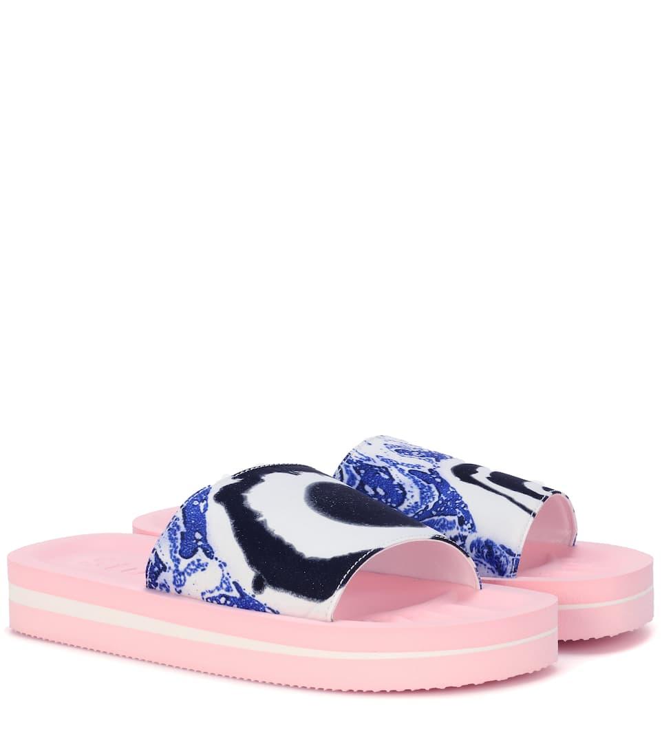 Acne Tania printed slip-on sandals C9BqKWY